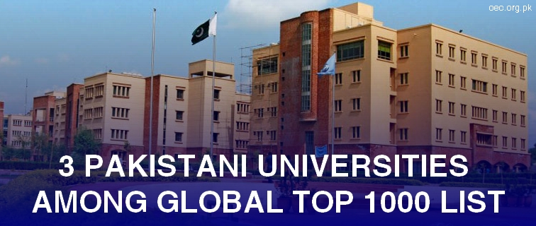 3 Pakistani Universities Among Top 1000 Universities in The World