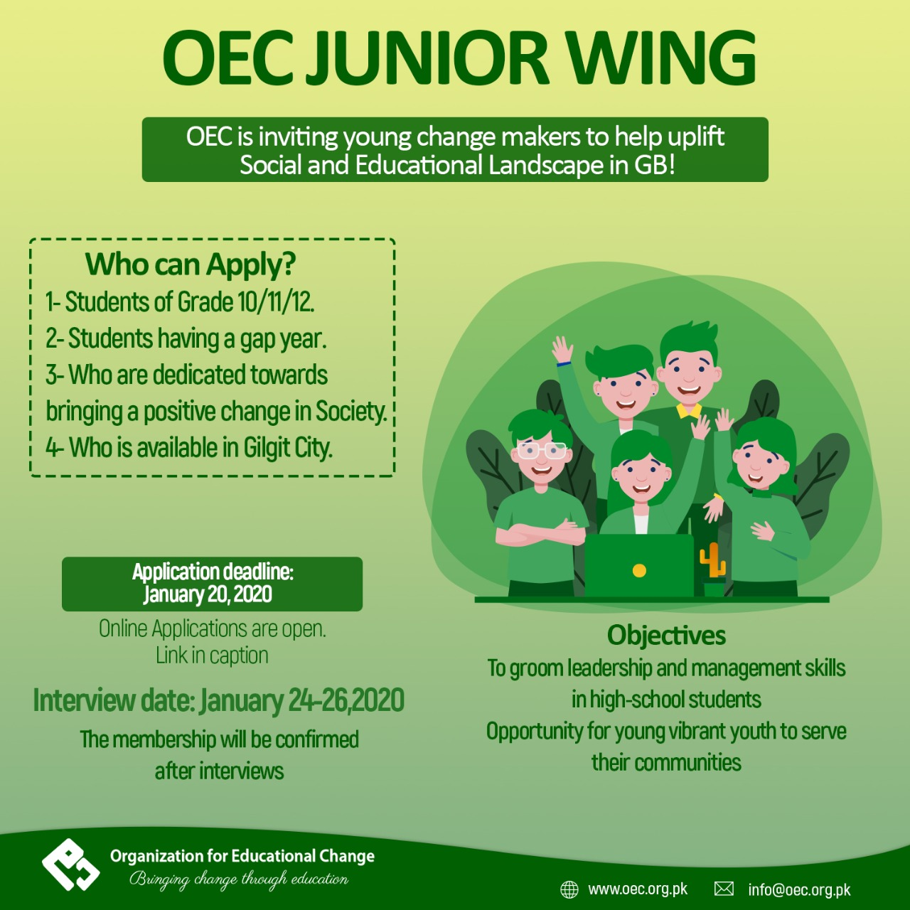 OEC Junior Wing Inductions 2020