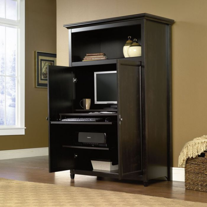 Dark Cherry Armoire Wardrobe