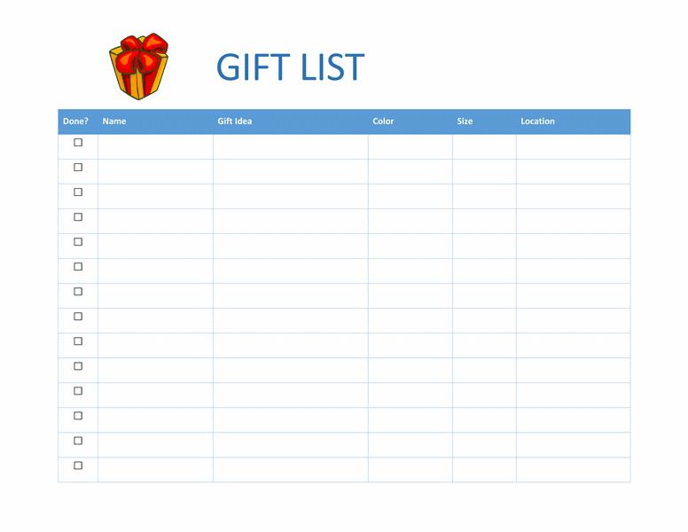 Template Excel Food List