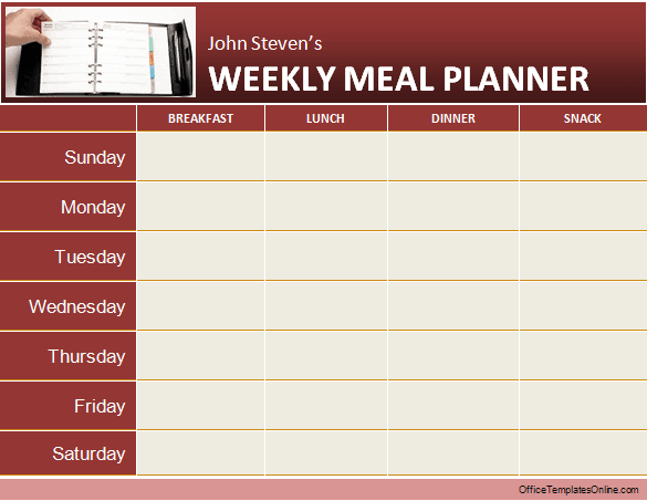 Daily   Weekly MS Word Planner Templates   Office Templates Online weekly meal planner ms word template