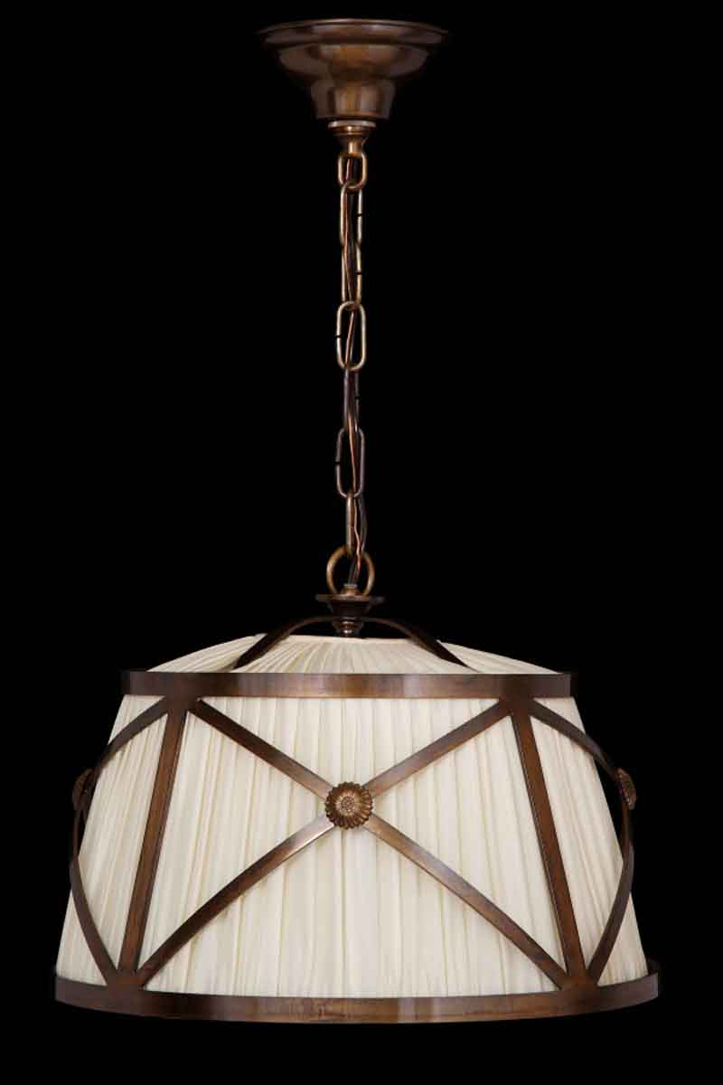 Bronze Finish Drum Shade Pendant Light Olde Good Things