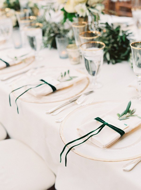 Velvet Wedding Setting Table