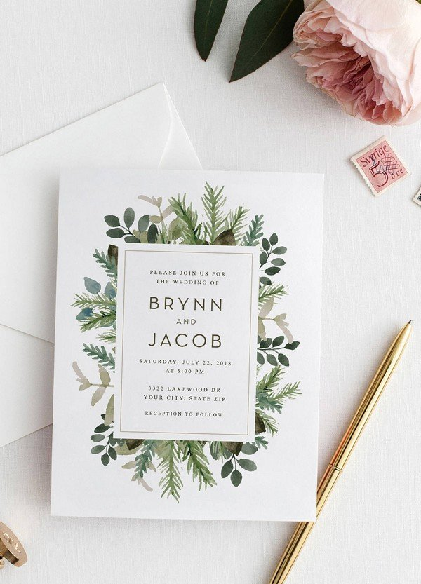 Top 10 Wedding Invitations We Love From Etsy For 2018 Oh