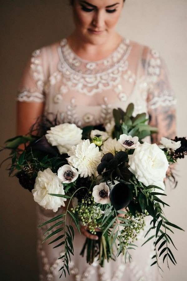 Top 25 Moody Wedding Bouquets For 2018 Trends Page 3 Of