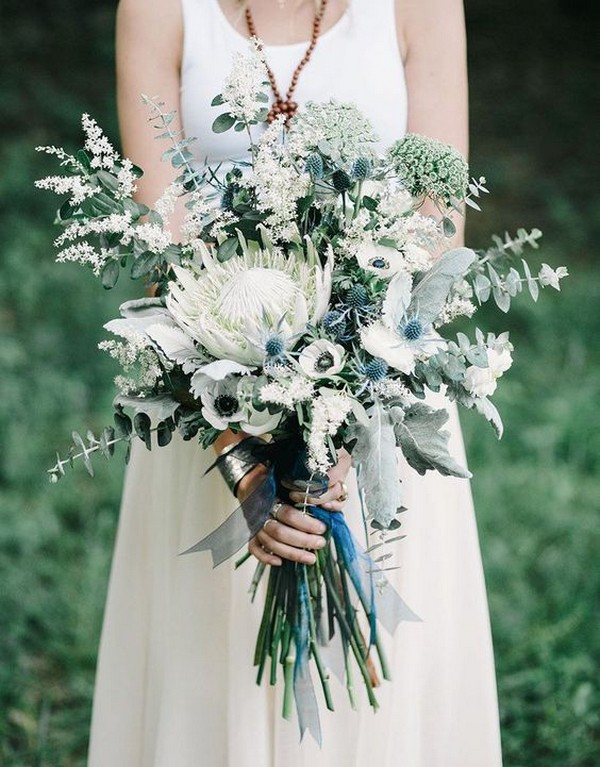 2019 Trending 25 Amazing Proteas Wedding Bouquets Page 3