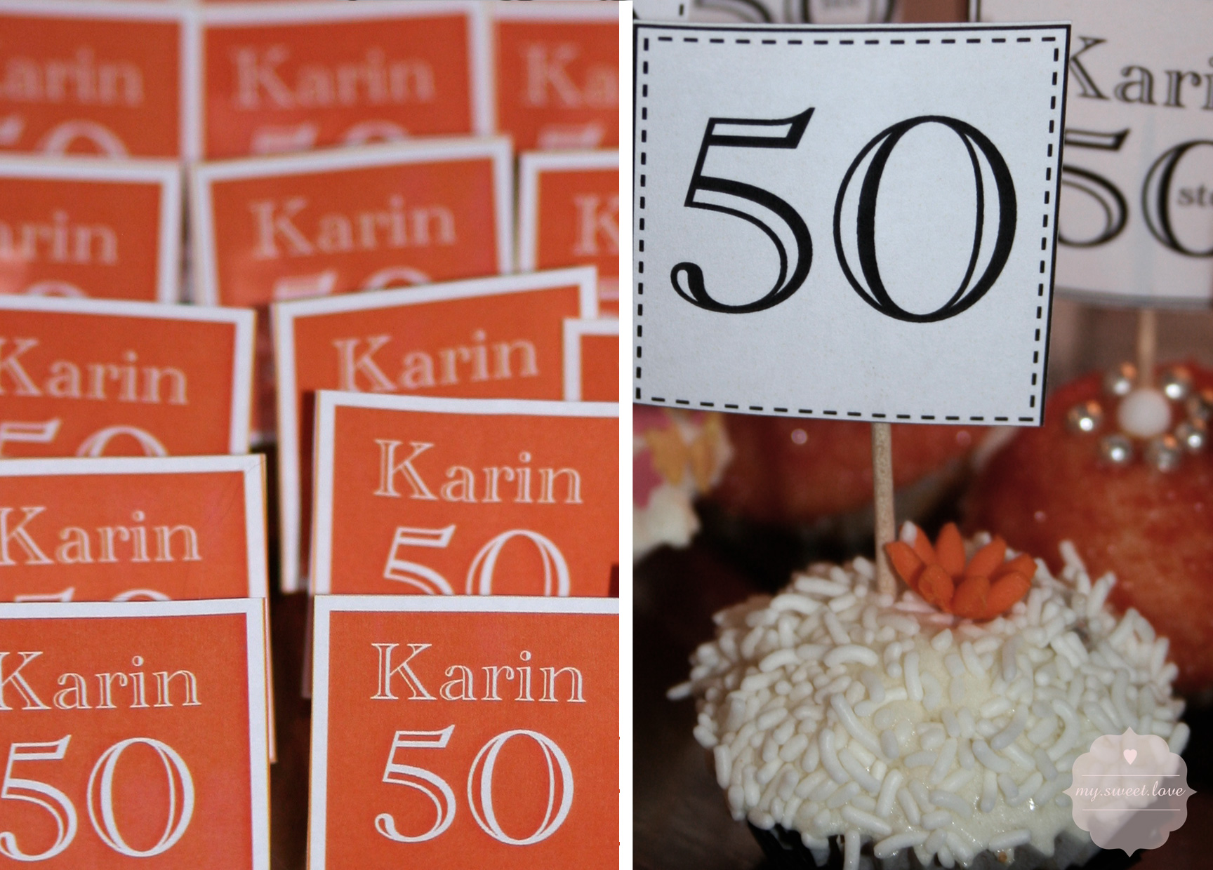 Dessert Table 50th Birthday My Sweet Love