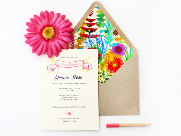 Rustic Summer Wedding Invitations