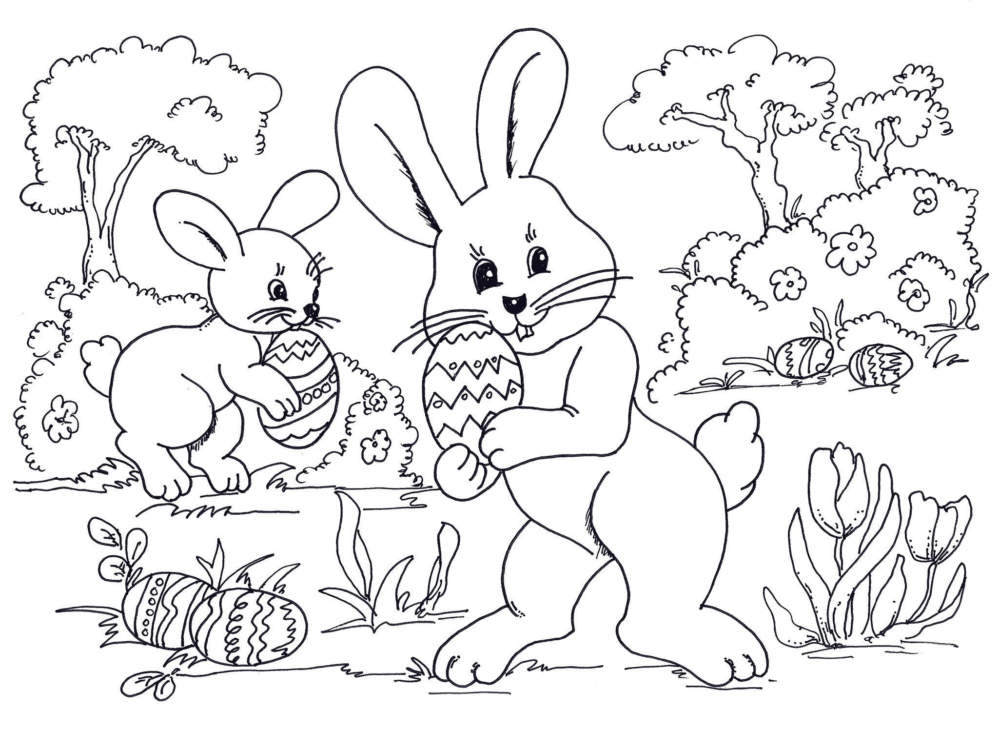 Easter Pages To Print And Color Free Coloring Pages Download | Xsibe ...