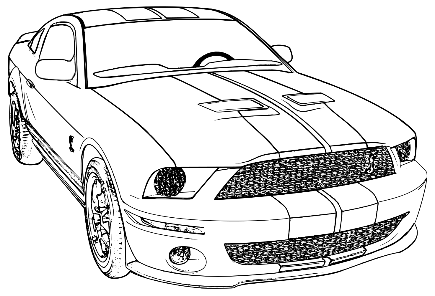 Mustang Coloring Pages Isolution To Print Free Sheets