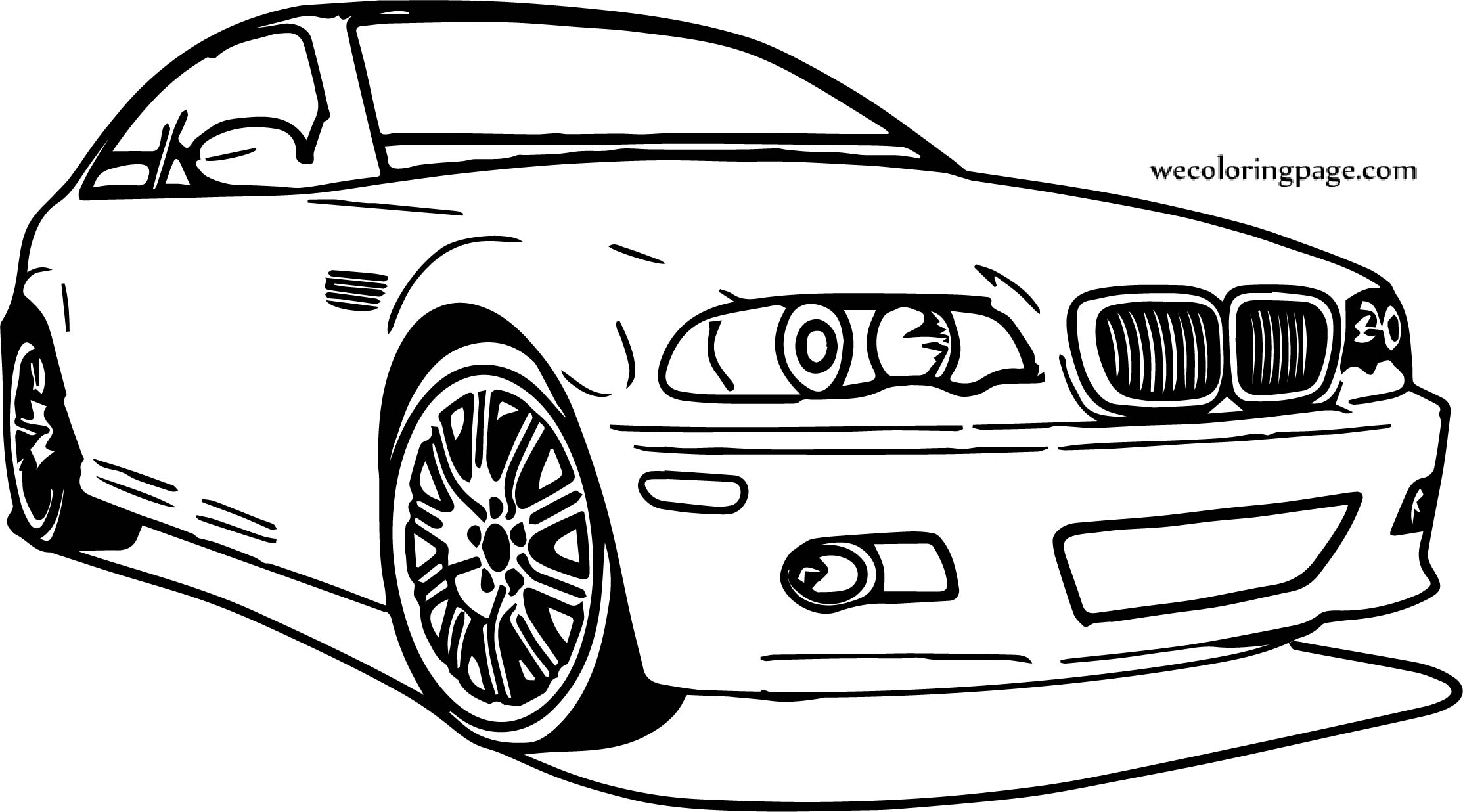 Free Coloring Pages Download Car Bmw Perspective Page Gallery Sheets Of