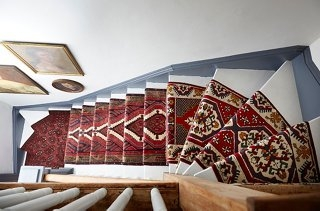 A Gorgeous Vintage Runners Diy Idea For Your Stairs   Oriental Rug Stair Treads   Flooring   Amazon   Non Slip   Bullnose Stair   Kings Court