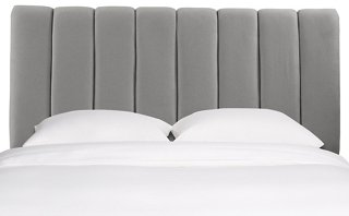 Headboards   One Kings Lane Charcoal Wool      Camel Wool