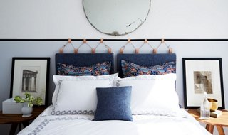 How to Make a Gorgeous DIY Upholstered Headboard   One Kings Lane This Gorgeous DIY Headboard Couldn t Be Easier