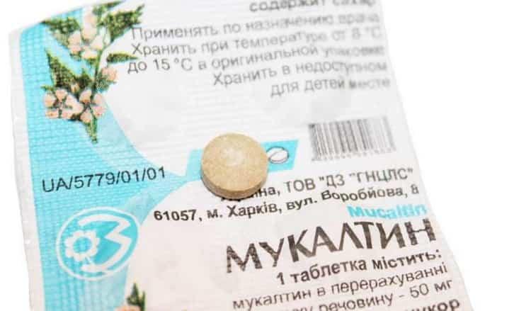 Mukaltin-tabletten van Cough-instructies voor gebruik voor kinderen