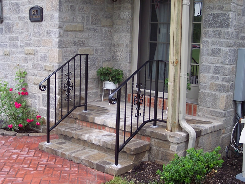 Aluminum Railings Old Dutchman S Wrought Iron Inc | Handrails For Front Steps | Small House | Granite | Easy | Cast Iron | Wrought Iron