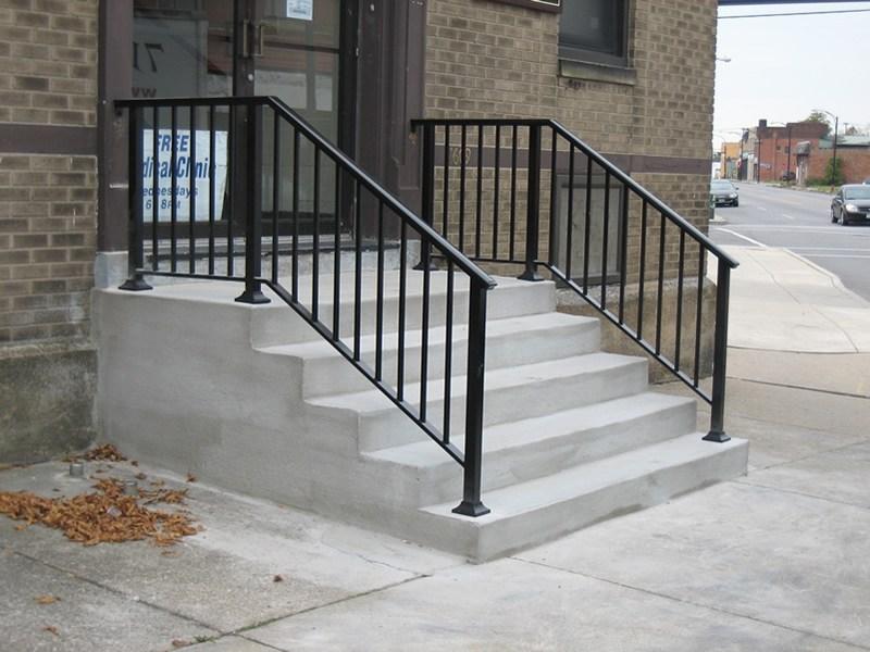 Aluminum Railings Old Dutchman S Wrought Iron Inc | Black Aluminum Stair Railing | Exterior | Modern | Steel | Cable Rail | Deckorators