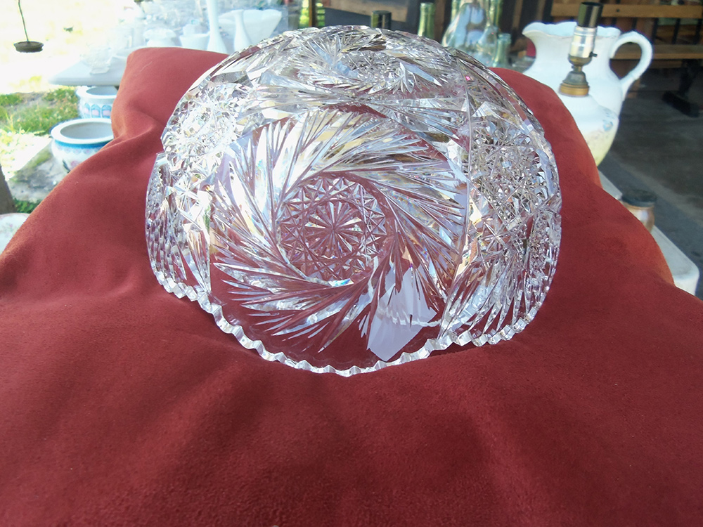 American Brilliant Period Cut Glass Bowl Old Nottoway