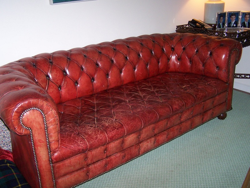 Leather Sofa Chaise Lounge
