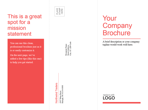 Black And White Tri Fold Brochures
