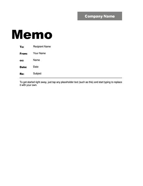 Write Off Internal Memo Format Example