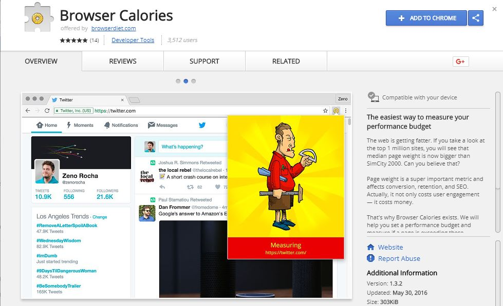 Browser Calories - Measure Your Performance Budget