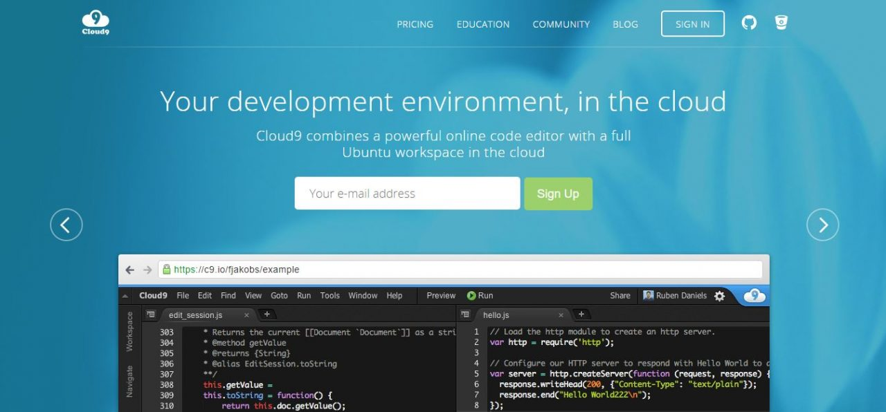 Cloud9 IDE - Development Environment
