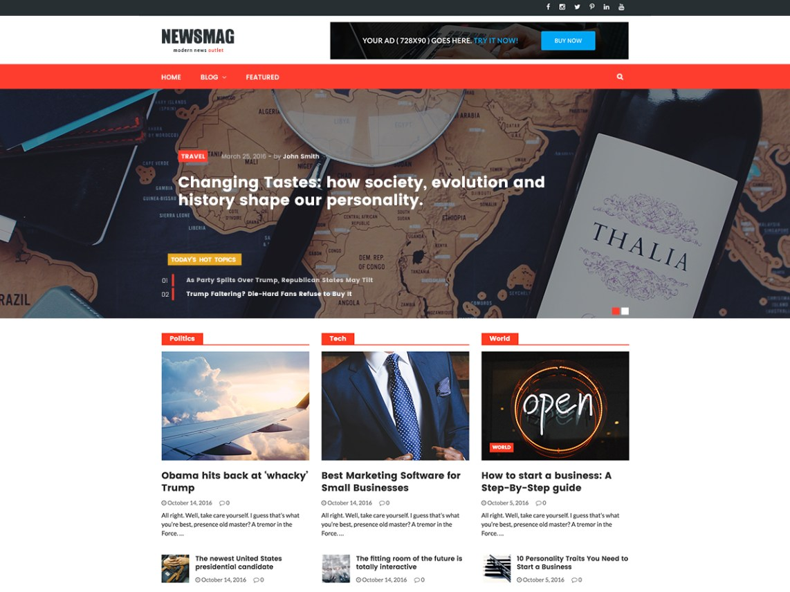 Newsmag Lite - Free WordPress Theme Frameworks