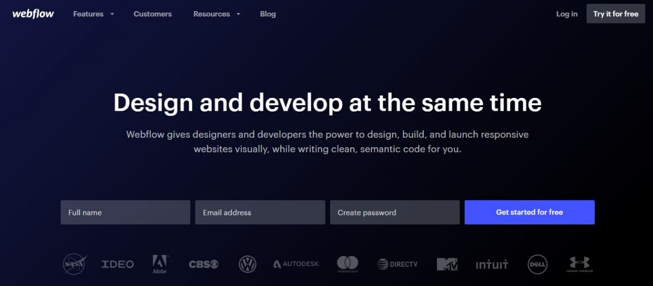 Webflow - Design and Develop Together