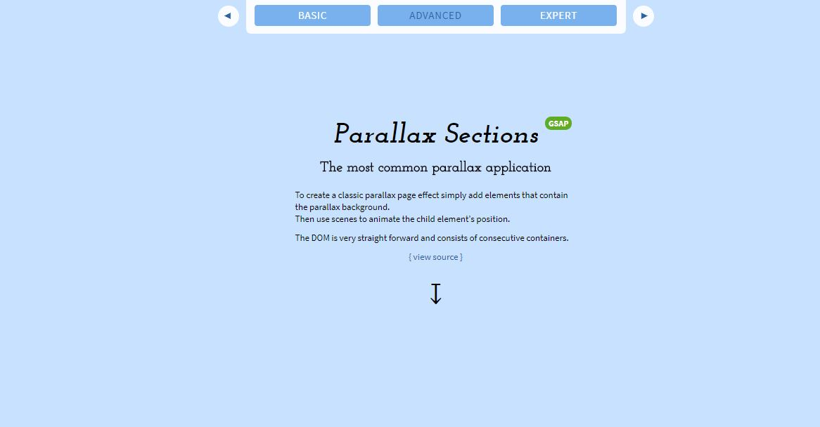 Parallax Sections