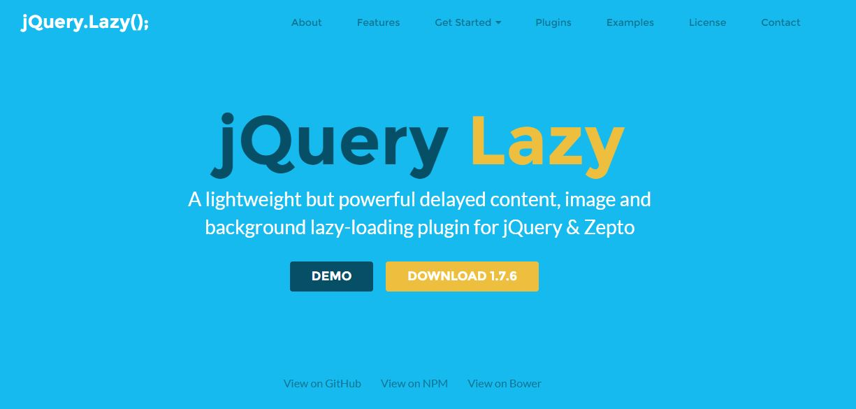 12 Best jQuery Lazy Load Plugins - On Air Code