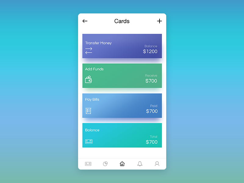 E-wallet Home Page Design