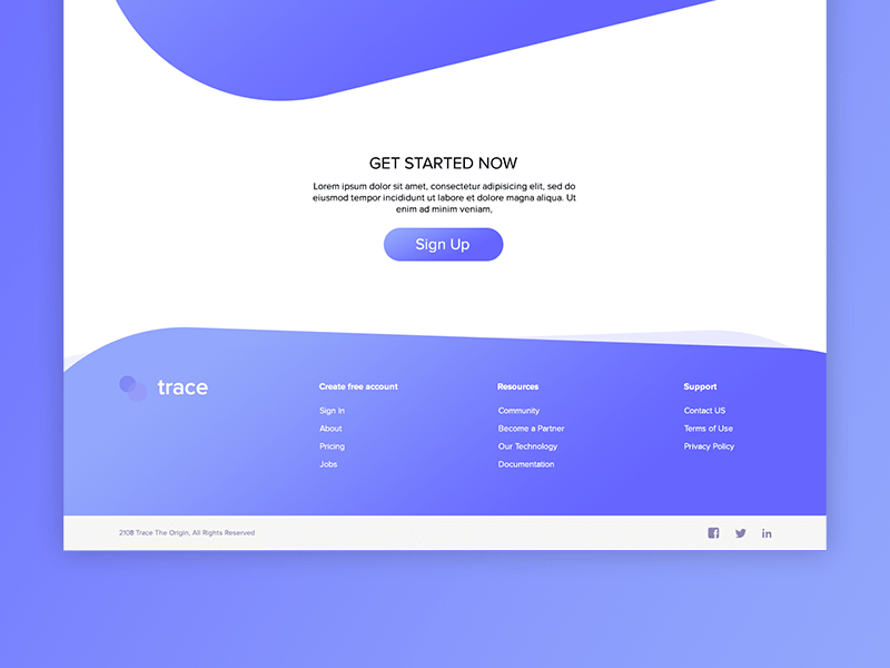 Footer Material Design