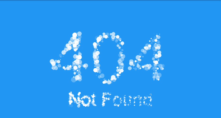 404 particle text:Amazing Particles Animation With CSS and JavaScript