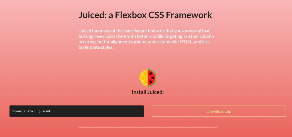 Juiced - Flexbox CSS Framework