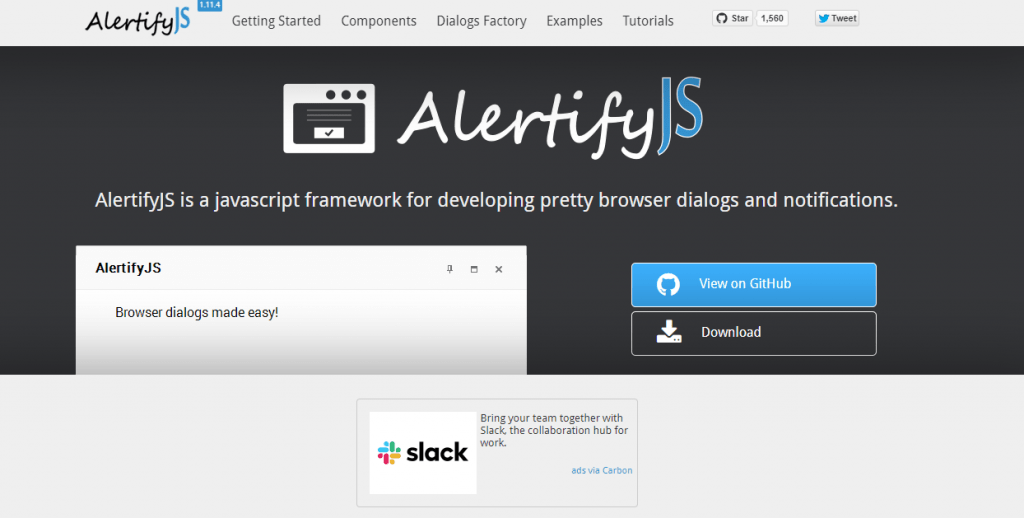AlertifyJs:Awesome javascript alert box