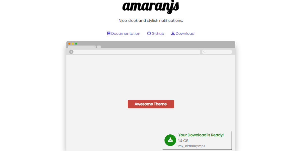 AmaranJS jQuery Notification Plugin