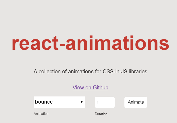 React-animations