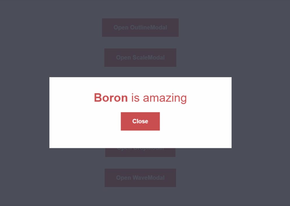 Boron Animation Libraries