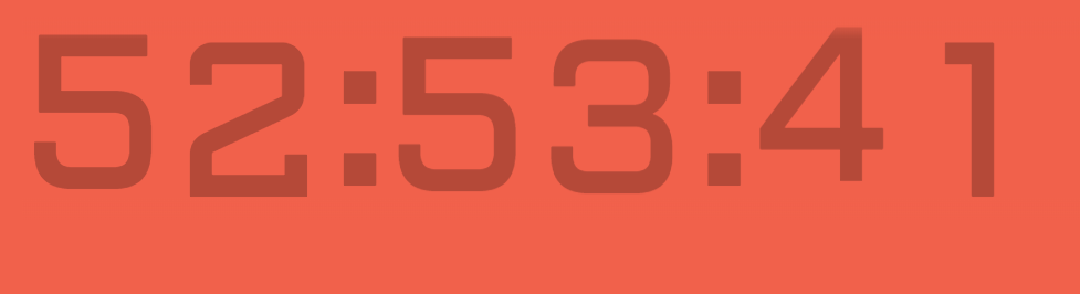 CSS-Only Countdown Clock