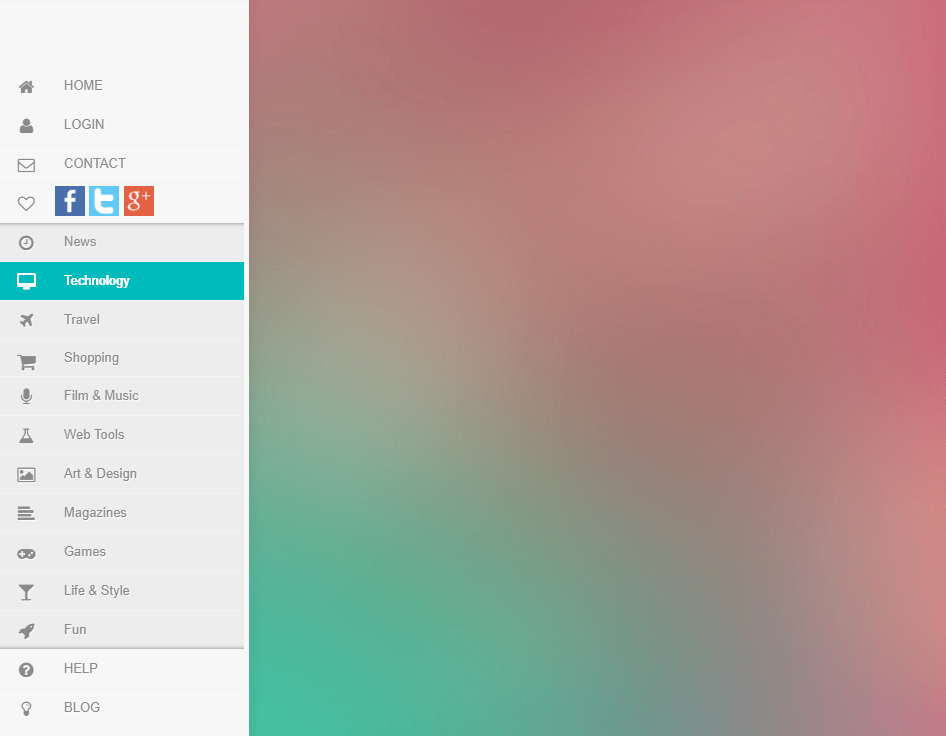 Side Sliding Menu CSS