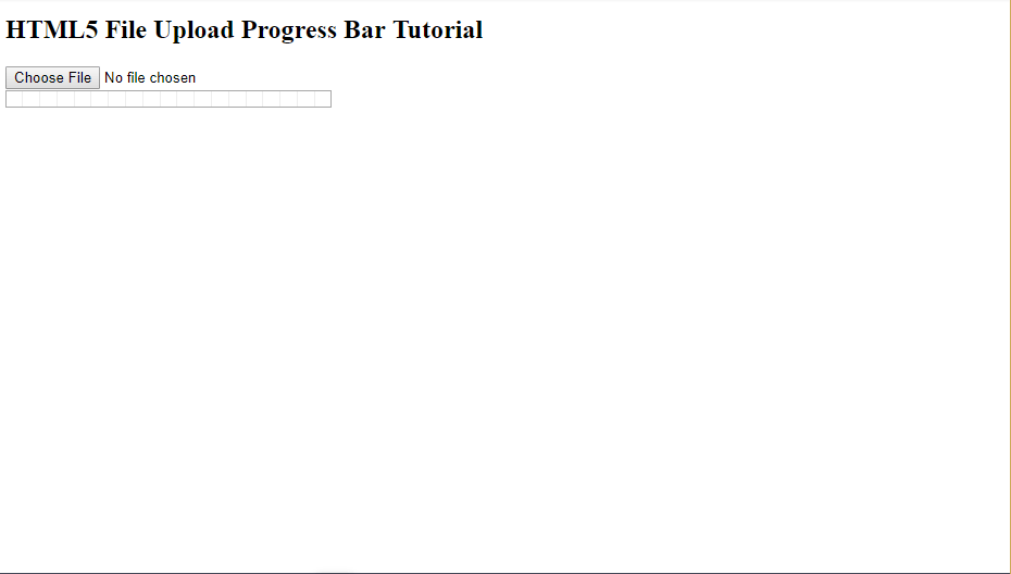HTML5 File Upload Progress Bar
