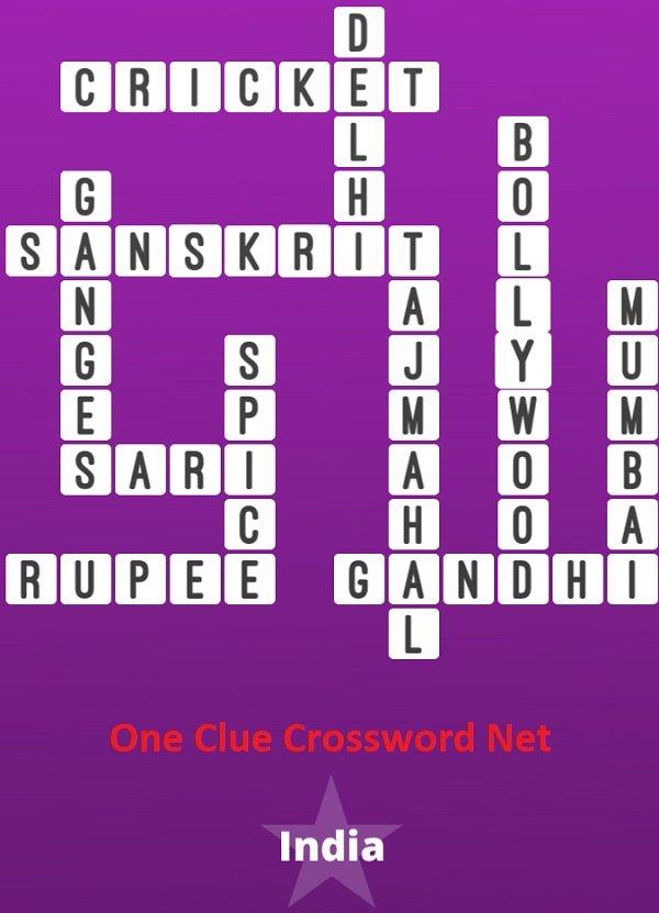 India Bonus Puzzle - One Clue Crossword