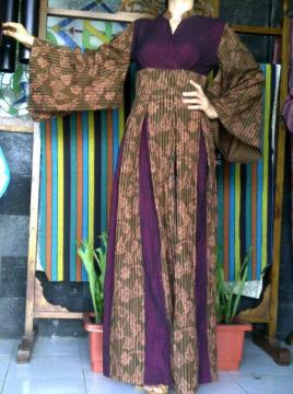 Image Result For Model Gamis Kombinasi Lurik