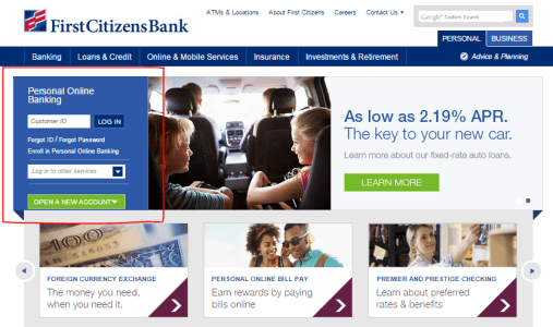 First Citizens Personal Online Banking