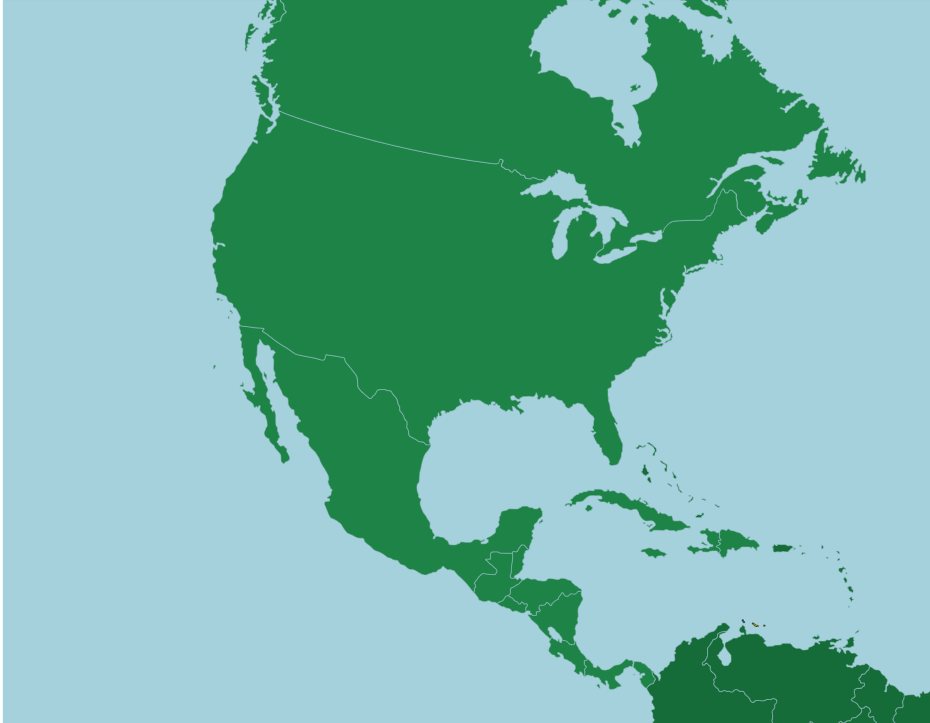 north america countries - 930×723