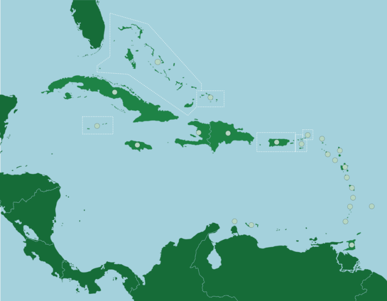 The Caribbean  Countries and Territories   Map Quiz Game