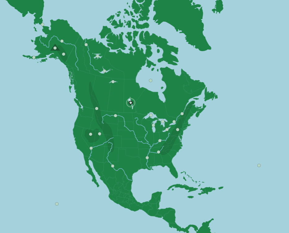 north america countries - 930×749