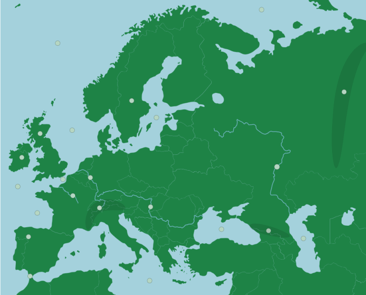Europe  Physical Features   Map Quiz Game