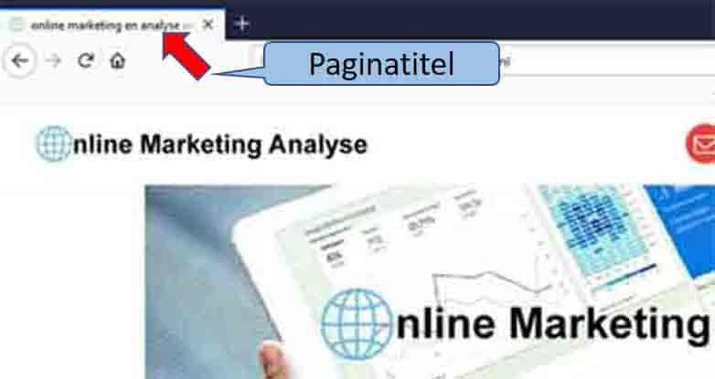 online marketing de titel van de pagina title tag SEO